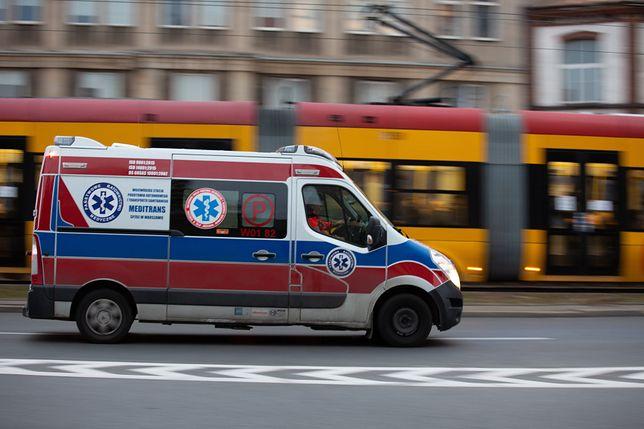 Warszawa. Poszkodowani trafili do szpitala