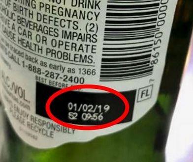 W tym miejscu należy szukać oznaczeń wadliwych butelek