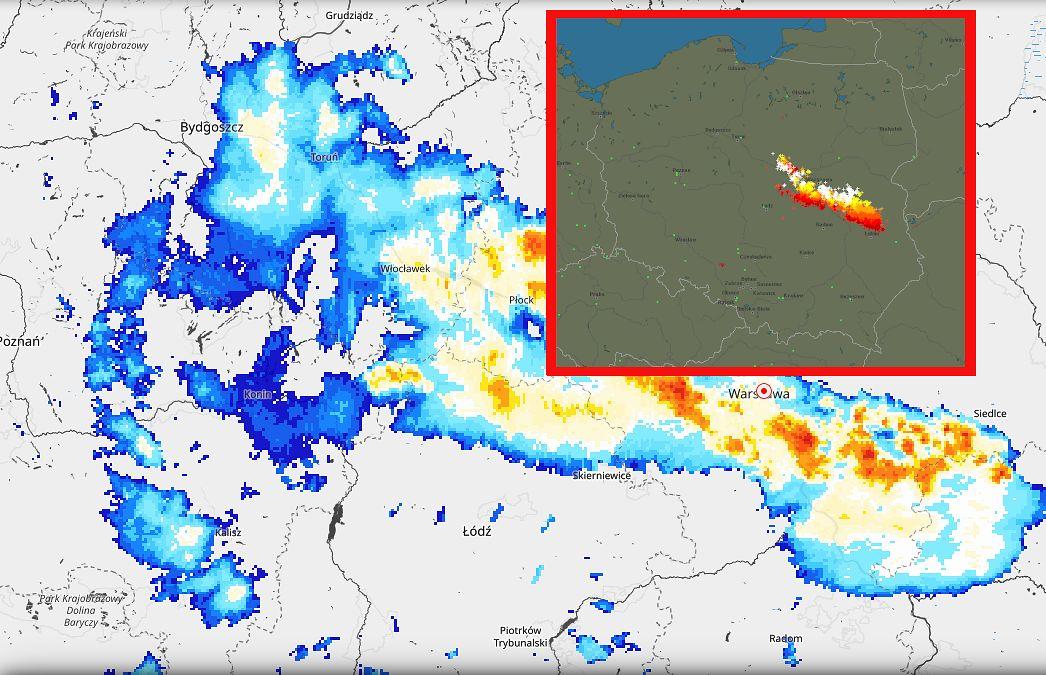 Gdzie jest burza? Potężny układ przechodzi przez Polskę