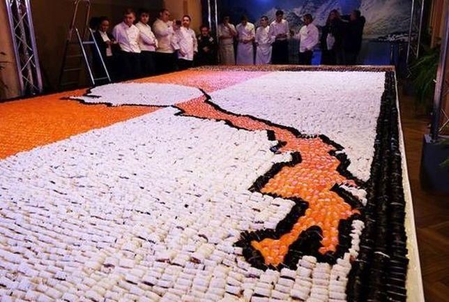 Rekord Guinnessa w układaniu mozaiki z sushi pobity w Warszawie!