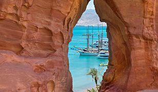 Piękny widok na jedną z zatok Morza Czerwonego