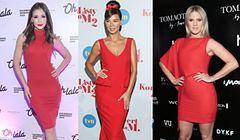 W stylu gwiazd: czerwona sukienka
