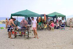 Grillowanie na plaży - piwko i bluzgi. Ahoj, polski Bałtyku!