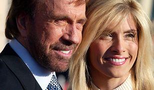 Chuck Norris wraz z żoną Geną