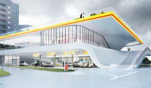 Trzy piętra, wiszące z sufitu dystrybutory. W stolicy powstanie stacja benzynowa przyszłości
