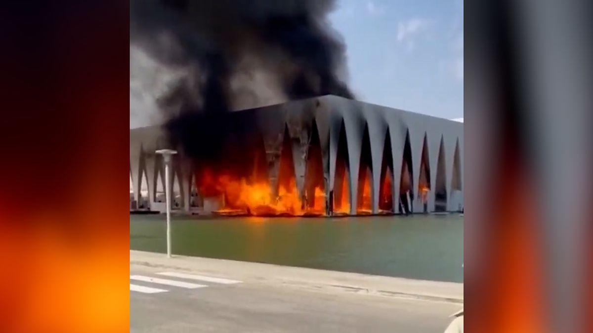 Pożar budynku, w którym odbywał się El Gouna Film Festival