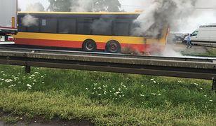 Pożar w miejskim autobusie