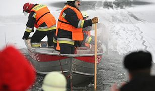 Dramat na zbiorniku pod Sławnem. Pod trzema osobami załamał się lód