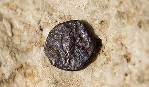 Jedna z monet znalezionych pod fundamentami Ściany Płaczu