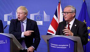 Brexit. Brytyjski premier Boris Johnson i Jean-Claude Juncker