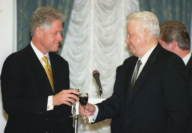 BIll Clinton i Borys Jelcyn