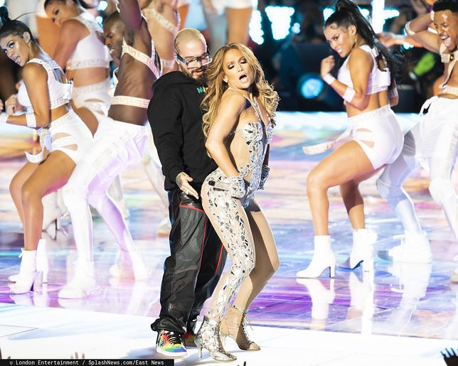 Jennifer Lopez podczas Super Bowl 2020