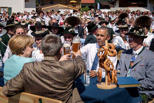 Piwo Obamy i Merkel było bezalkoholowe