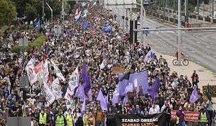 Budapeszt. Tysiące Węgrów wzięło udział w proteście w obronie wolnych mediów