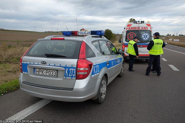 """Wypadek na krajowej """"jedynce"""". Zderzyły się cztery ciężarówki"""