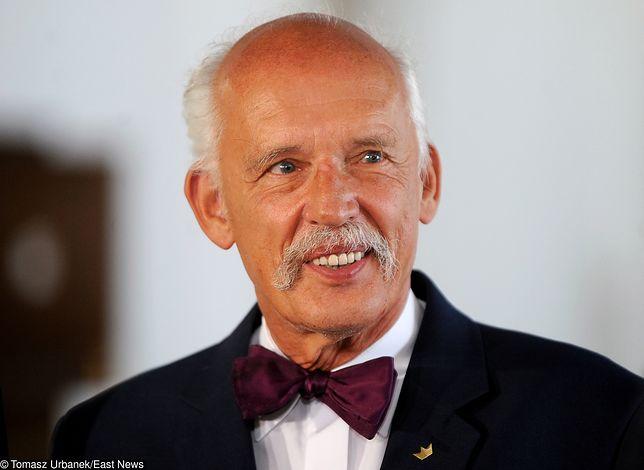 Janusz Korwin-Mikke nie wyklucza też pozwania innych kandydatów na prezydenta Warszawy