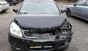 Jeden z pojazdów, który brał udział w wypadku