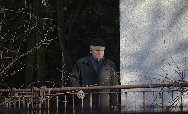 Jarosław Kaczyński w swoim domu na Żoliborzu (2018 r.)