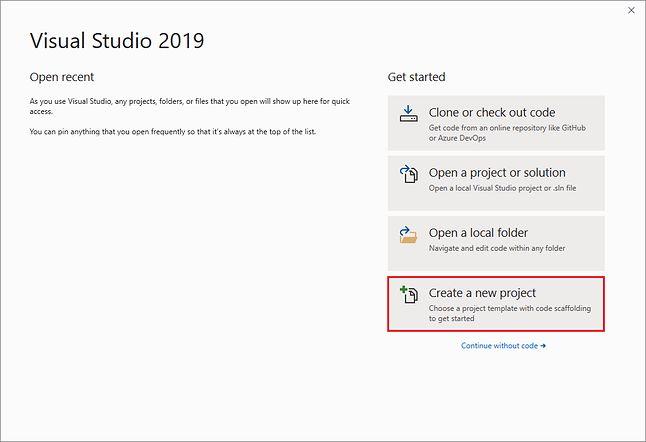 Nowy ekran powitalny Visual Studio 2019 (Microsoft)