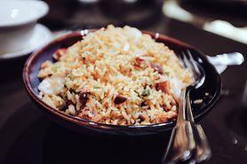 Smażony ryż bez dodatku mięsa
