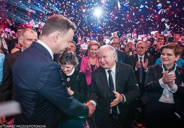 Andrzej Duda, Jarosław Kaczyński i Beata Szydło. Z liderami PiS współpracuje od lat Piotr Agatowski.