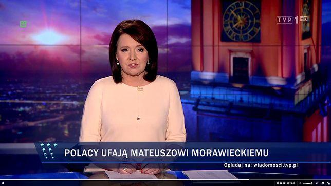 """Danuta Holecka, jedna z prezenterek """"Wiadomości"""""""