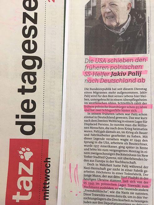 """Die Tageszeitung o """"polskich obozach"""""""