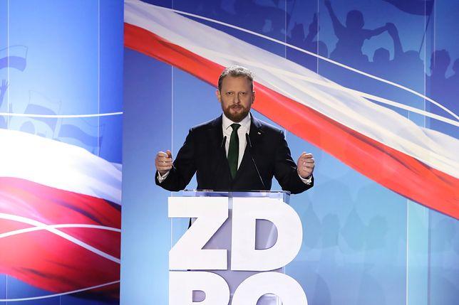 Minister zdrowia Łukasz Szumowski przypomniał podczas konwencji sprawę Angeliny Jolie