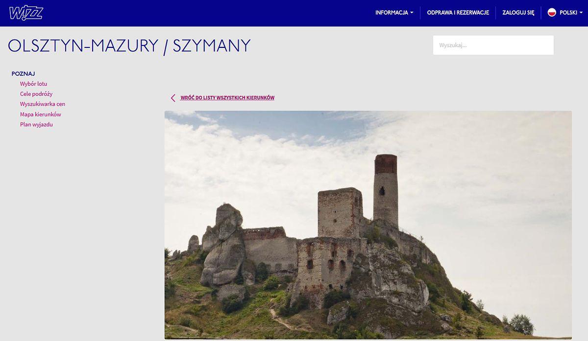 Wizzair pomylił Olsztyn z innym Olsztynem. Dziwna wpadka linii lotniczych