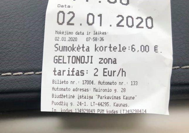 2 euro za godzinę. Nasz czytelnik zbulwersowany cenami parkowania na Litwie