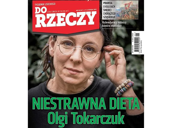 """""""Niestrawna dieta Olgi Tokarczuk"""". Zobacz okładki tygodników"""