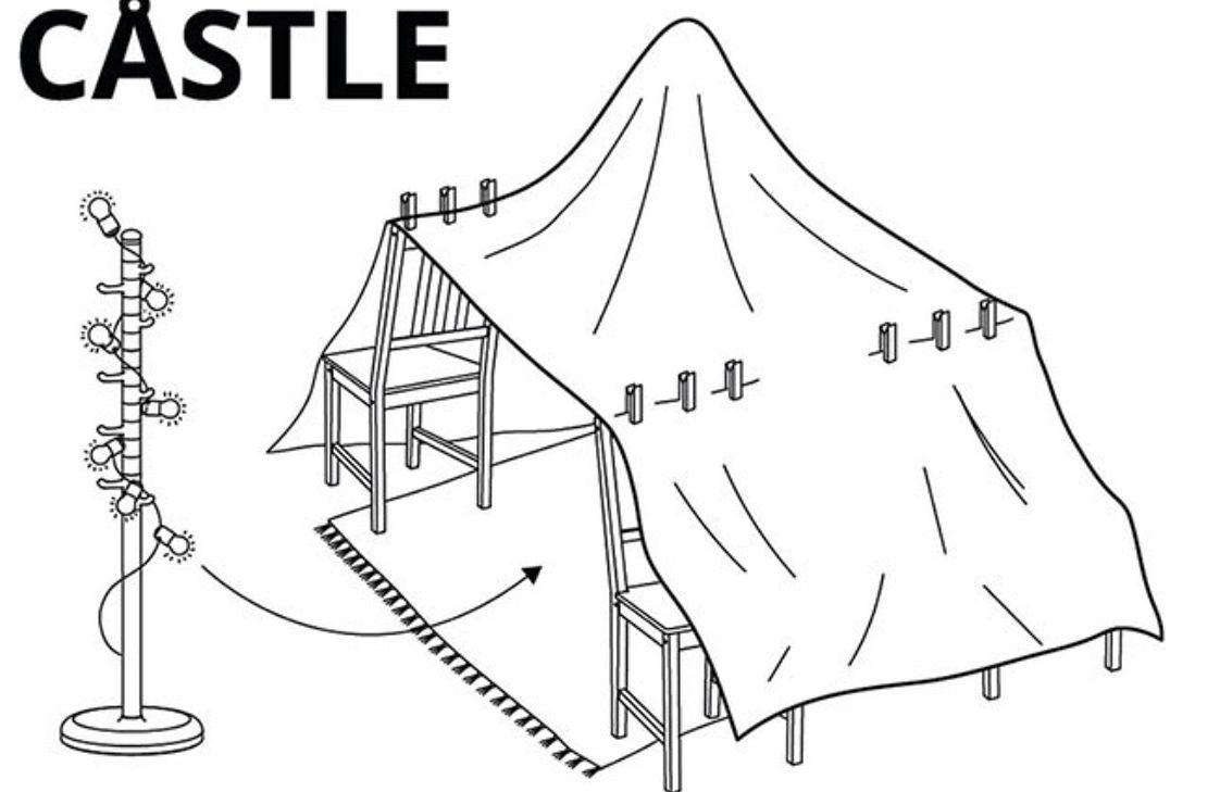 """Ikea opublikowała instrukcję, jak zbudować """"bazę"""" dla znudzonego dziecka. To pomoże wielu rodzicom"""