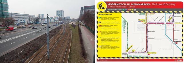 """""""Mordor"""" bez tramwajów. Modernizacja Marynarskiej"""