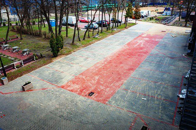 Sosnowiec. Kończy się budowa parkingu przy Energetycznym Centrum Kultury.