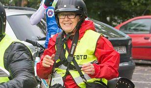 Elżbieta Skowron podczas zawodów Bike Challenge odbywających się w Poznaniu.