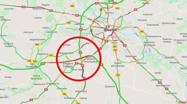 Wrocław. Korki na autostradzie A4. Utrudnienia przez dwa dni