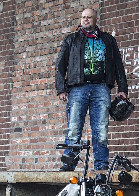 Maciej Grabowski od wielu lat jeździ na motocyklu i nigdy nie myślał, żeby przestać
