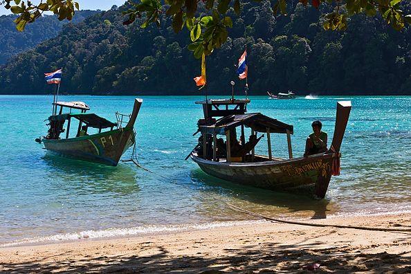 Malownicza wyspa Mu Ko Surin w Tajlandii