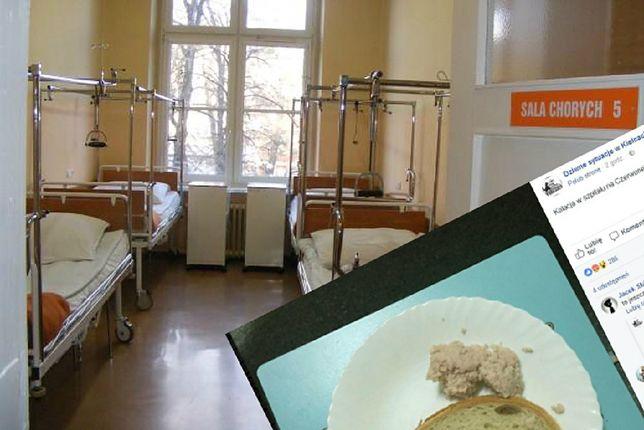 Zdjęcie posiłku w jednym ze szpitali w powiecie kieleckim wywołało istną burzę wśród internautów.