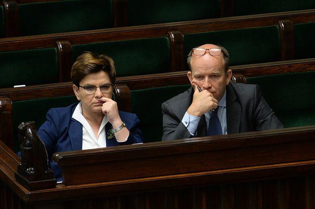 Premier Beata Szydło i minister Konstanty Radziwiłł