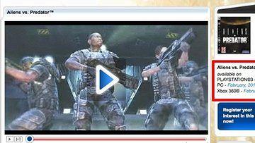 Aliens vs Predator w lutym 2010 - przynajmniej tak mówi strona Segi