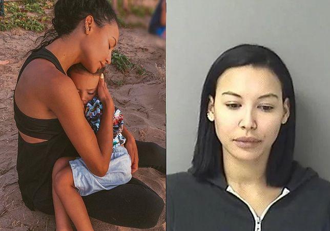 Naya Rivera z synkiem i po aresztowaniu w 2017 r.
