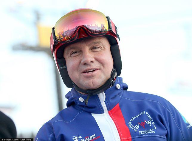 Andrzej Duda pogratulował skoczkom i... się pomylił. Internauci szybko zauważyli błąd