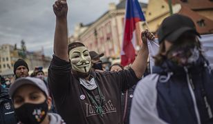 Koronawirus, Czechy. Protest przeciwko nowym restrykcjom