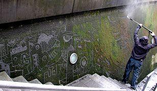 Etyczne grafitti powstaje w mchu