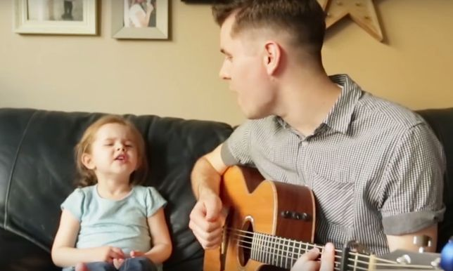 To będzie najlepsze nagranie, jakie dzisiaj zobaczycie. Tata i córka zaśpiewali piosenkę