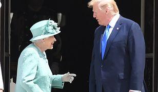 Donald Trump z wizytą u królowej Elżbiety