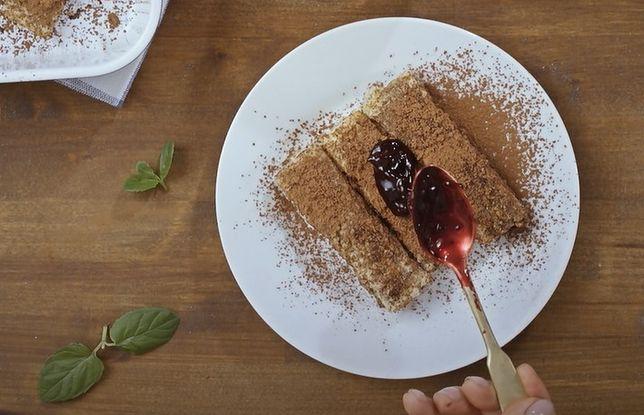 Krokiety z chleba tostowego nadziewane czekoladą