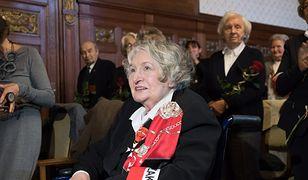 Mjr Danuta Szyksznian ps. Sarenka, emerytowana nauczycielka i żołnierz AK.