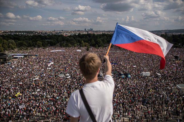 Gigantyczna demonstracja w Czechach.